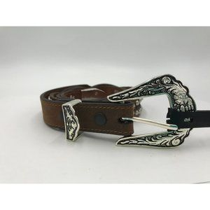 Janie Women's Genuine Leather Belt Brown Size 32